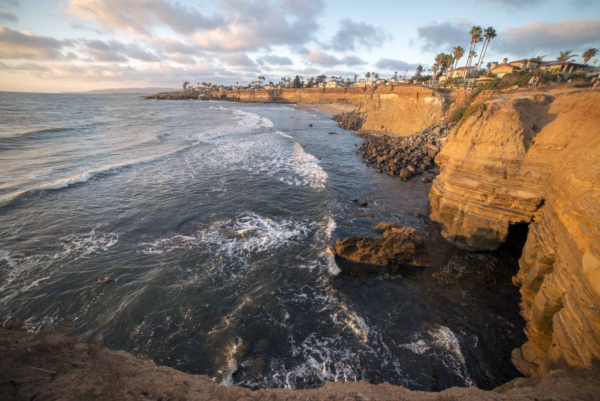 Kierunek Sunset Cliffs, ca - podróże po USA